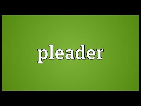 Header of pleader