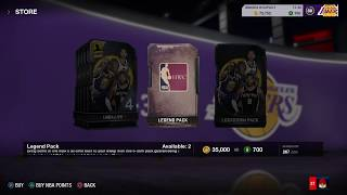 NBA LIVE 18 - WE PULLED SHAQ IN ONE LEGEND PACK!!!