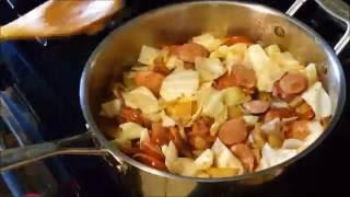 Fried Cabbage with Kielbasa   Low Carb