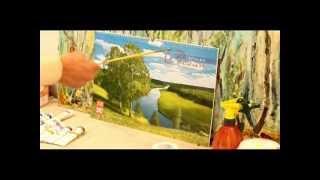 как начать рисовать масляными красками.пейзаж (часть 1)(Масло, рисование,урок рисунка, учу, учимся, учиться, учитель, учеба, репетитор, частные уроки, педагог, рисуно..., 2012-03-27T00:17:38.000Z)