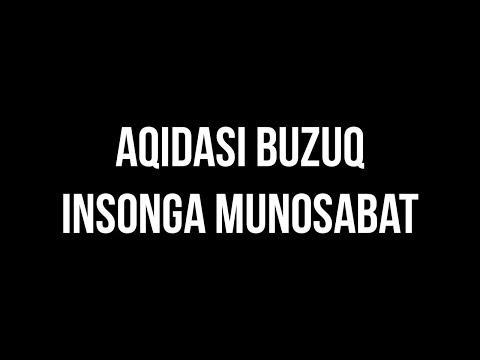 """Savol-javob: """"Aqidasi buzuq insonga munosabat"""" (Shayx Sodiq Samarqandiy)"""