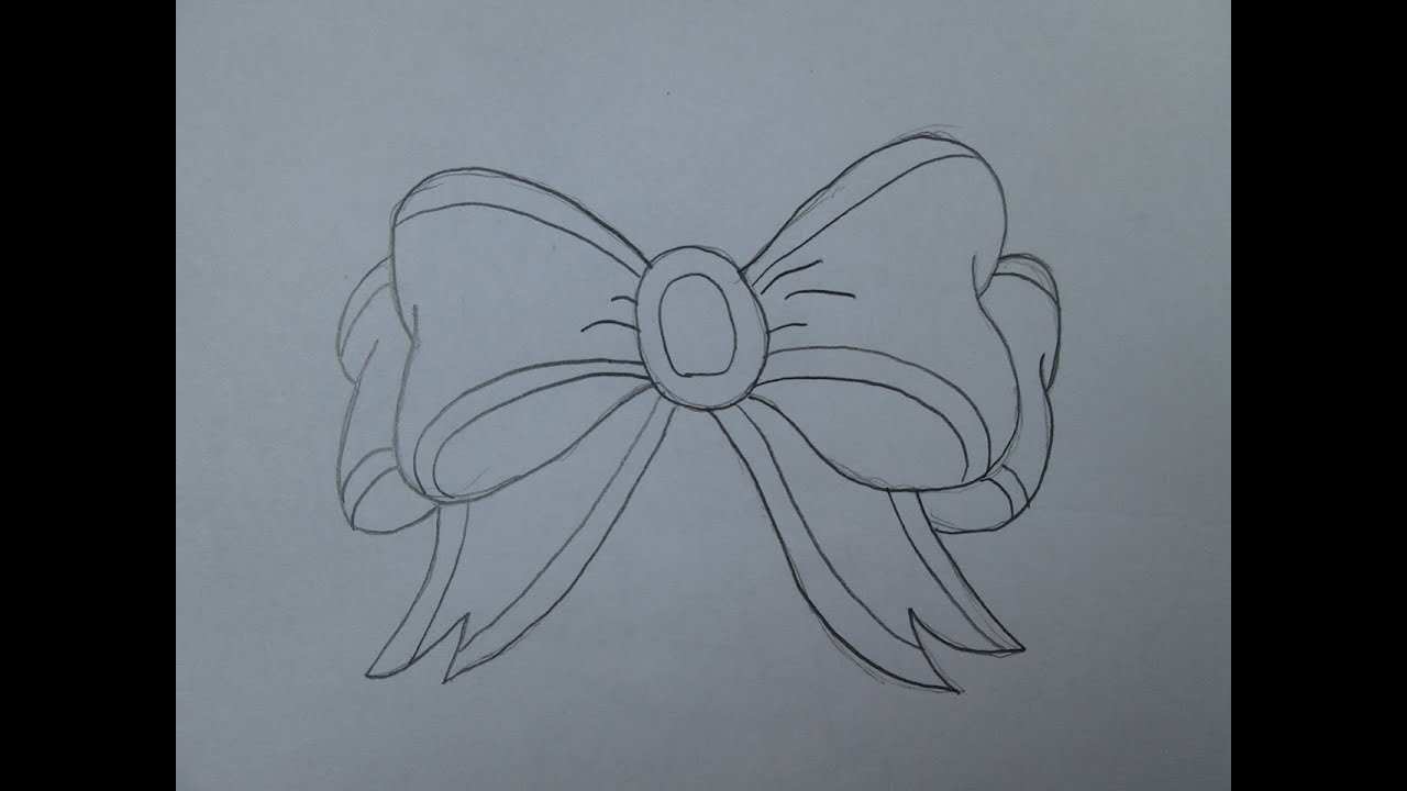 how to draw a ribbon