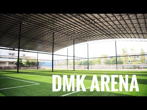 DMK arena สนามฟุตบอลหญ้าเทียมพร้อมโครงหลังคา