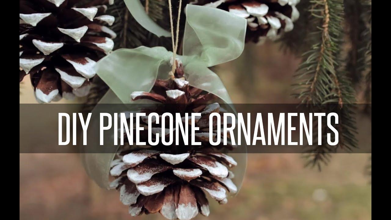 Diy pinecone tree ornaments youtube solutioingenieria Gallery