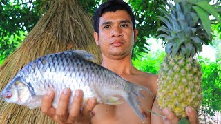 Tube Unique Cooking: Yummy Recipe Cooking Fish With Pineapple In Forest