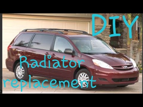 DIY Toyota Sienna radiator replacement how to 2003-2010 #toyota #sienna #howto