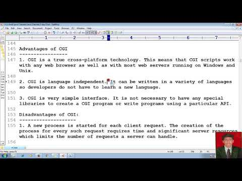 6 Advanced Java Servlet Tutorial | What is difference between SERVLET and CGI | Mr. Nataraj