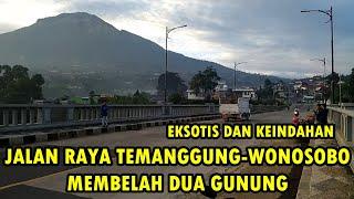 Keindahan Jalan Temanggung-Wonosobo membelah 2 gunung (part 2 vlog liburan akhir 2019 bareng istri)