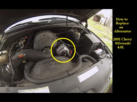 FAST--Install Replace Truck Alternator 2001 Chevy Silverado GMC