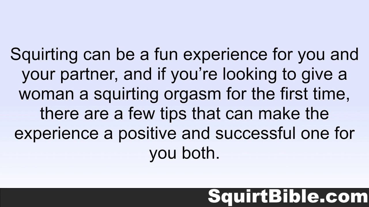 how do you make a women squirt