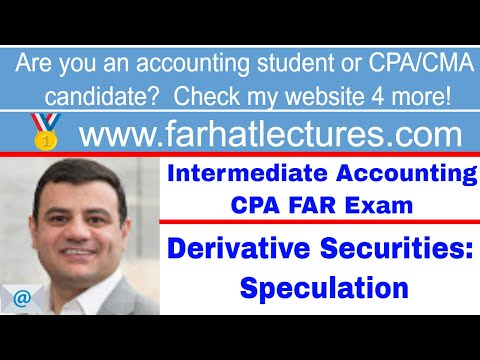 Accounting for derivative instruments speculation intermediate accounting CPA exam Ch 17