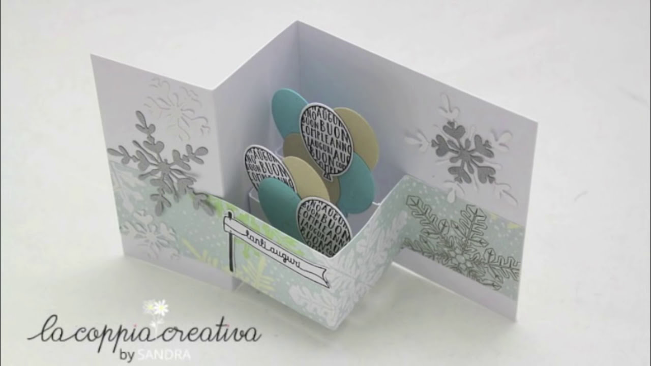 Double Z fold card Pop up Tutorial   Biglietto Auguri Buon