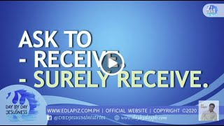 Ed Lapiz - Ask To Receive  Surely Receive🆕Latest Sermon 👉 Review Ed Lapiz Latest Sermon New Video 👉