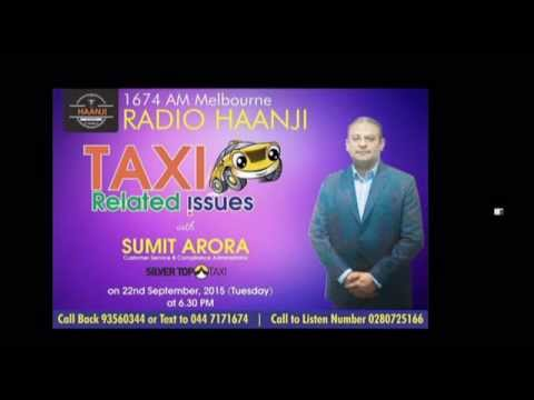 Live Discussion on Taxi Issues with Silver Top Representative Sumit Arora - Radio Haanji 1674AM