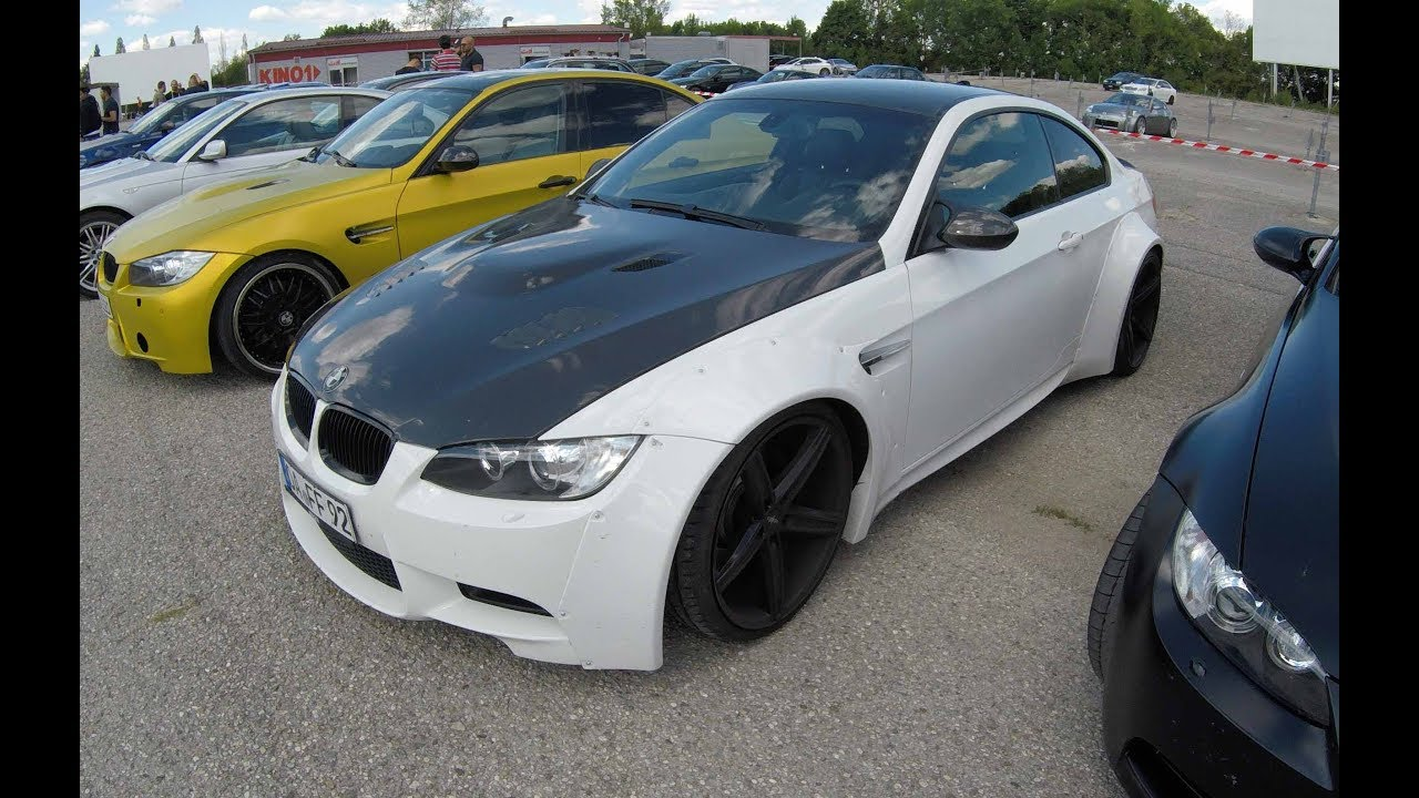 Bmw M3 E92 Coupe Wide Body Kit Carbon Hood White