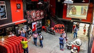 Así es la sede de los barristas del Atlético Paranaense