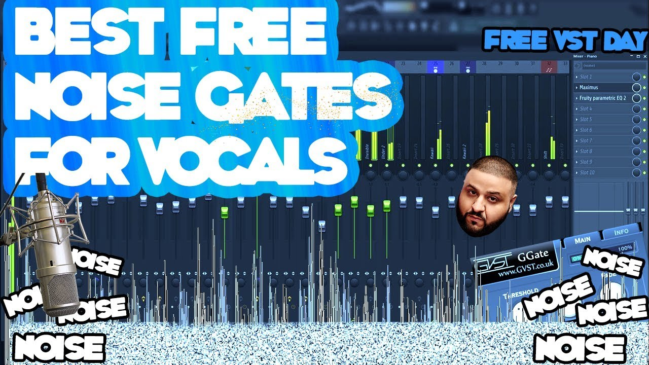 How To Remove Noise From Vocals - BEST FREE NOISE GATES 2017