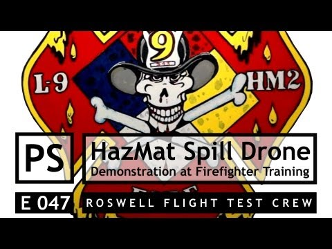 RTFC: FPV Drone Scouts Hazardous Material Spill During Fire Department Training Exercise