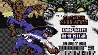 The Amazing Spiderman and Captain America in Doctor Doom's Revenge (C64) - playthrough