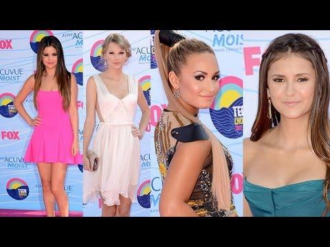 2012 Teen Choice Awards Fashion Recap Selena Gomez Demi Lovato Taylor Swift Nina Dobrev Youtube