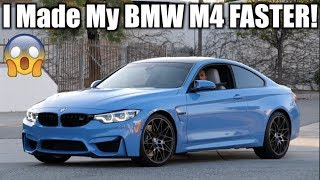Making my BMW M4 ILLEGAL! |Tuned| Faster| Louder