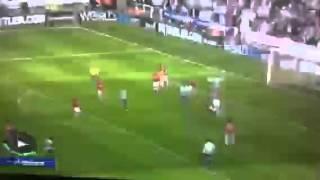 Patrice Evra does a ninja kick