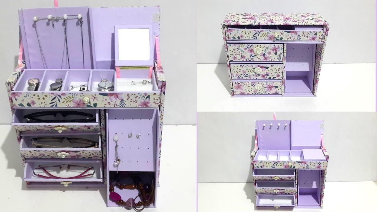 Diy Room Organizer Jewelry Box Accessories Box Youtube