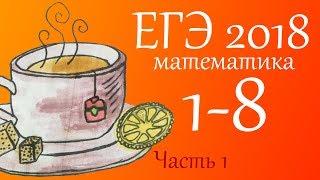 ЕГЭ 2018 по математике (профильный уровень) 1-8