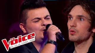 Repeat youtube video The Voice 2013 | Baptiste Defromont VS Claude Schuh - Don't Stop Me Now (Queen) | Battle