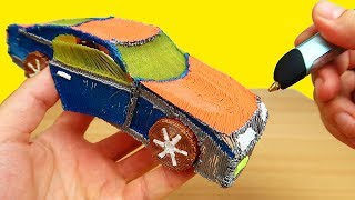 3D РУЧКА! Рисую Спортивный Автомобиль!