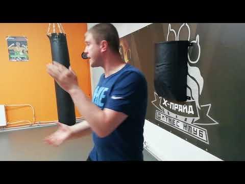 Трехкратный чемпион по боксу Антон Новиков. Тренировка