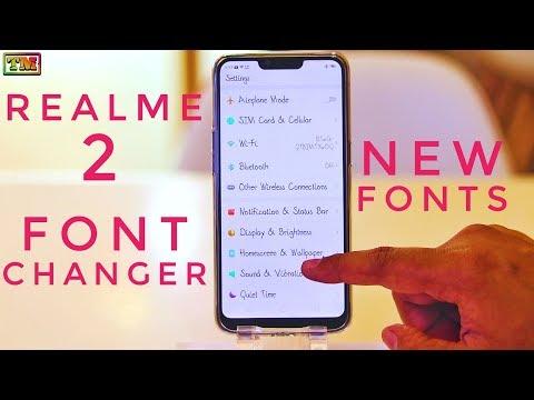 Realme 2 Font Changer   Change Fonts in Realme 2