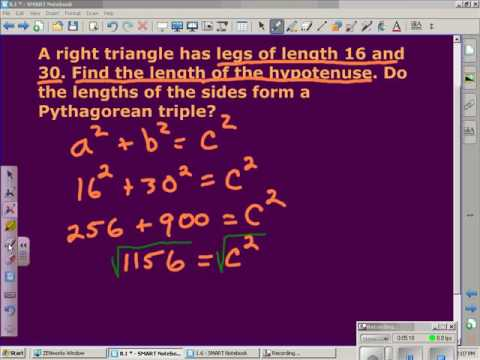 Simplest Radical Form and The Pythagorean Theorem - YouTube