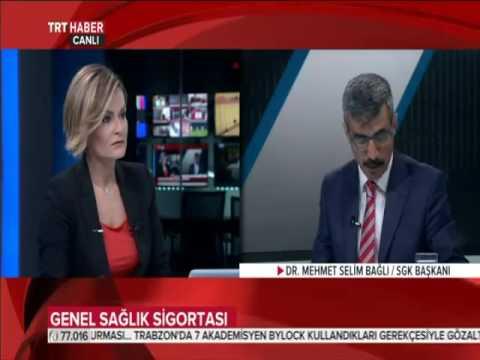 SGK Başkanı Dr. Mehmet Selim Bağlı Yapılandırma ile ilgili TRT Haber'in Konuğu oldu