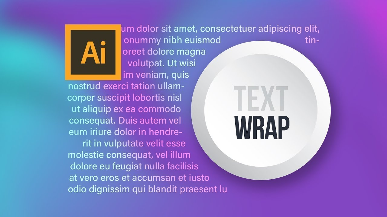 HOW TO WRAP TEXT IN ILLUSTRATOR