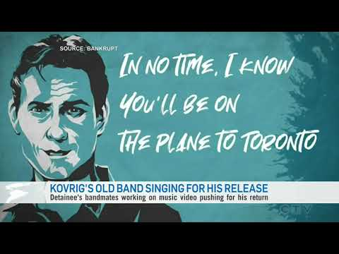 Michael Kovrig's old band is singing for his release