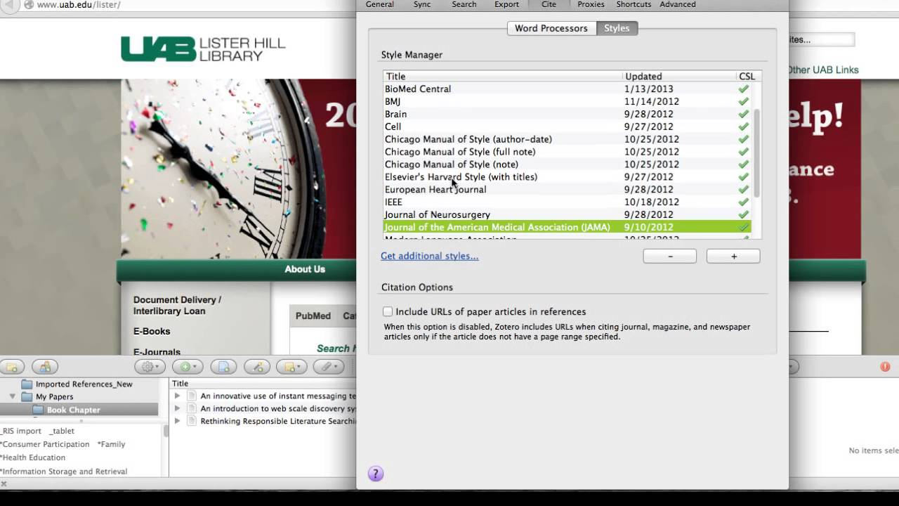Zotero managing citation styles youtube zotero managing citation styles ccuart Images