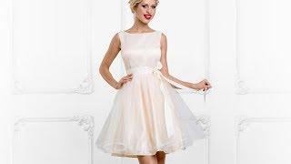 Короткое платье Кортни с верхней съемной юбкой