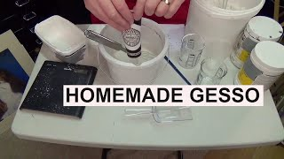 SAVE MONEY, HOMEMADE GESSO, Acrylic painting for beginners,clive5art