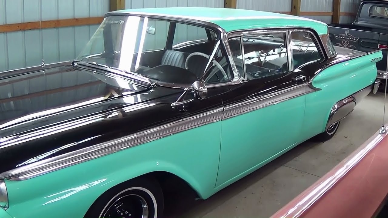 S L further Ford Y Block furthermore Ford Sunliner Convertible Fairlane Galaxie further C C E B in addition Infinity Chevy Kick Panel Speakers. on 1959 ford fairlane