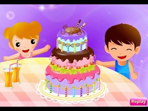 Cooking Colorful Cake Game