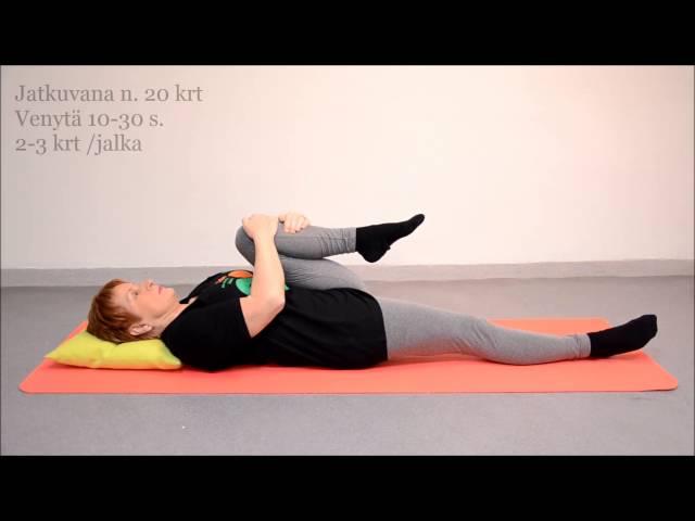 video 1 Lonkan liikkuvuus istuen tai makuulla