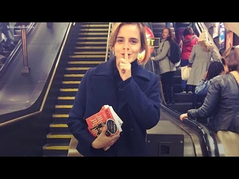 Emma Watson is hiding books on London trains