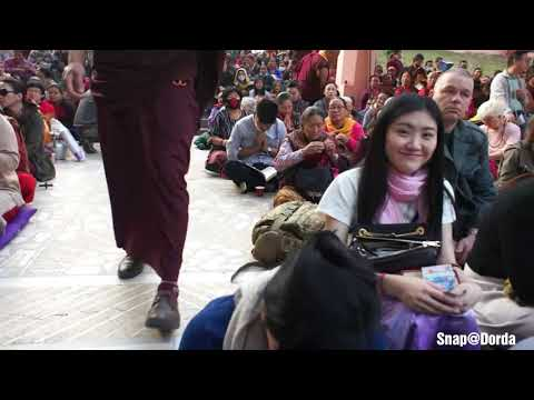 KAGYU MONLAM 2018 BODHGAYA,,,, H.H The 17th Gyalwa Karmapa Thrinely Thaye Dorje KHENNO,,