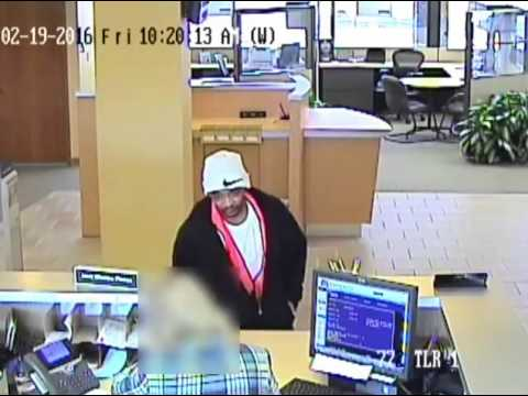 Bank Robbery #1 Comerica Bank video of suspect
