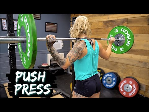 Tips & Cues for PUSH PRESS & RE-RACKING the Barbell!