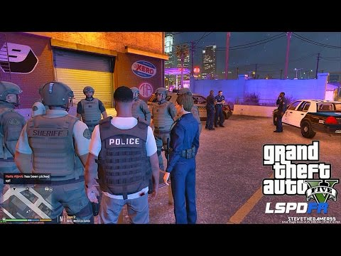 GTA 5 LSPDFR - DETECTIVE WORK - GROVE STREET POLICE LOCKDOWN (GTA 5 PC POLICE MODS)
