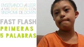 Enseñar a leer a un niño con síndrome de Down - método fast flash - prueba 2