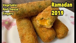 Vegetable And Cheese Fingers / Make And Freeze Recipe Ramadan Special / Ramadan 2019 By Yasmin