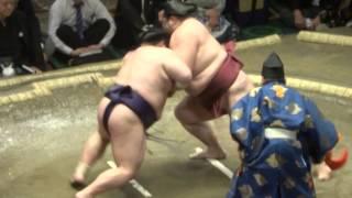 20140511 稀勢の里vs豪風 大相撲夏場所初日.